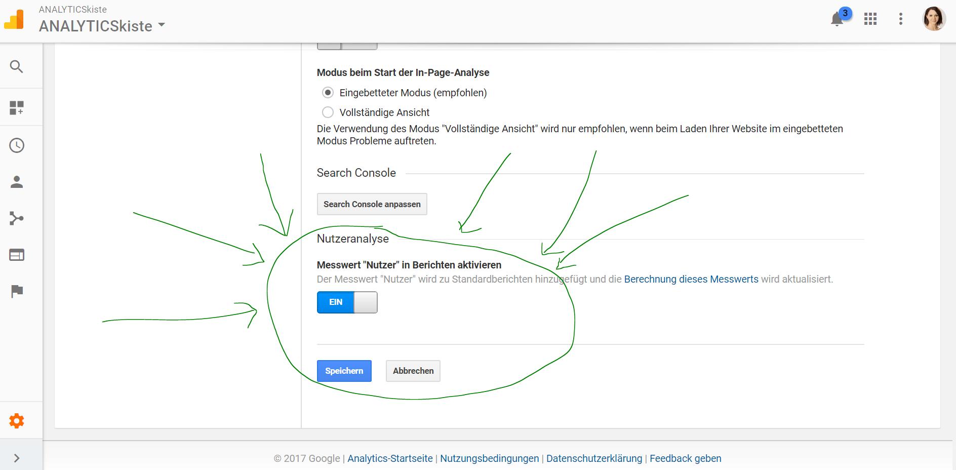 Google Analytics Nutzeranalyse