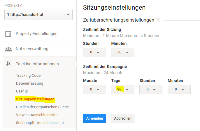Google Analytics Kampagneneinstellungen