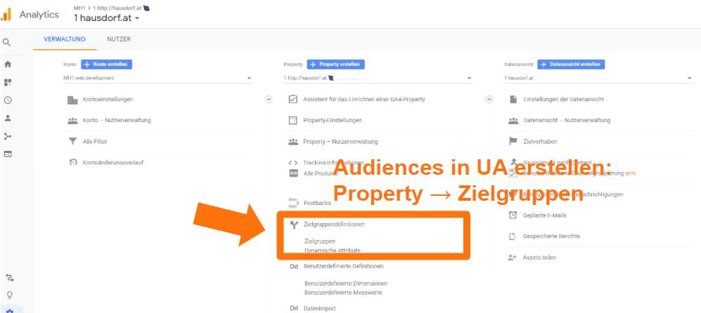 Audiences in Universal Analytics erstellen