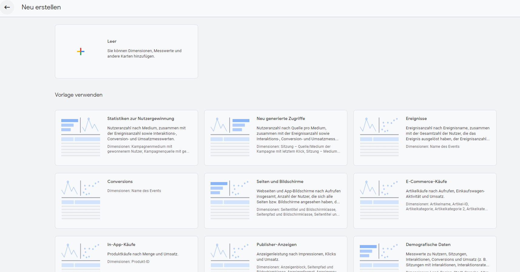 Detailreport in GA4 erstellen