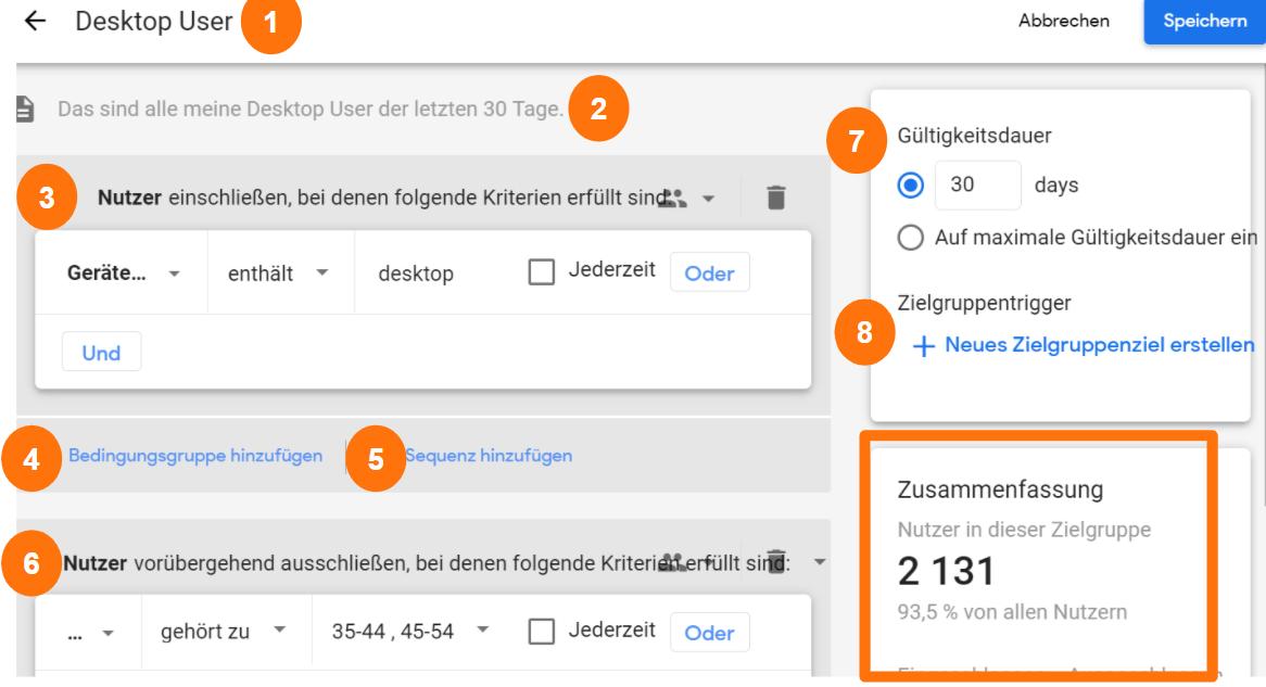 Google Analytics 4 Audience Builder