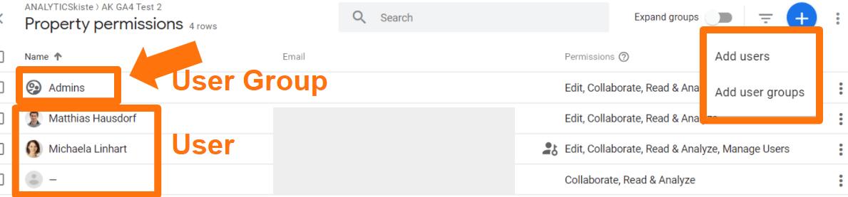 Google Analytics 4 - User Management